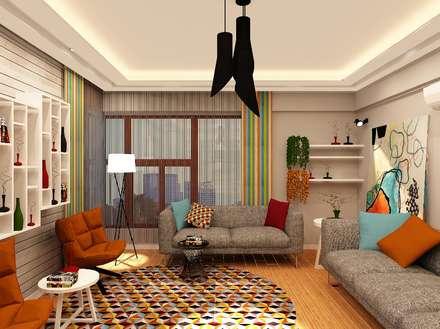 Mozeta Mimarlık – Gümüş Evi Oturma Odası: modern tarz Oturma Odası