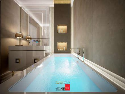 Appartamento privato 4: Bagno in stile in stile classico di MELLINACORTISTUDIO