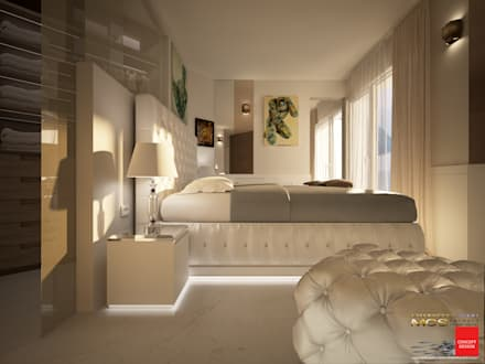 Camera da letto idee immagini e decorazione homify - Tende per stanza da letto ...