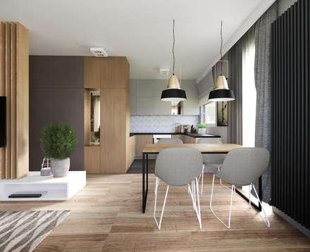 Rodzinnie z industrialną nutką.: styl , w kategorii Kuchnia zaprojektowany przez Double Look Design