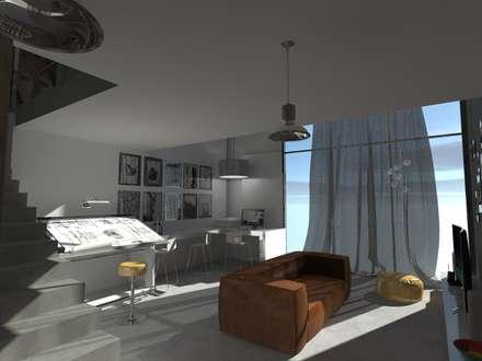2: Studio in stile in stile Eclettico di Elio Di Franco