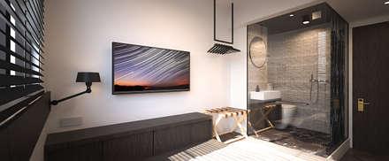 Atlas Guesthouse: minimalistic Bedroom by BIGGERTHANstudio