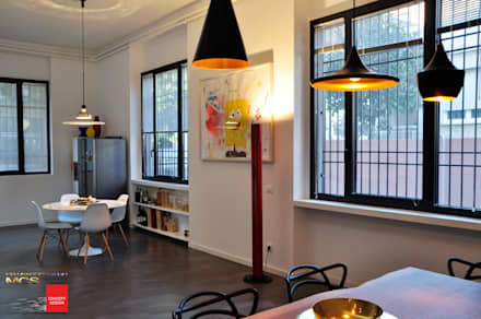 Loft privato: Sala da pranzo in stile in stile Eclettico di MELLINACORTISTUDIO