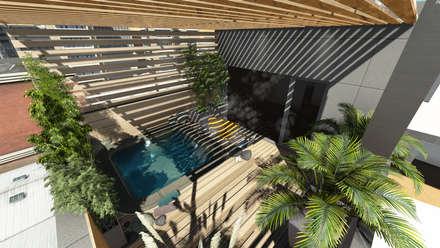 Estanques de jardín de estilo  por Aida Tropeano & Asoc.