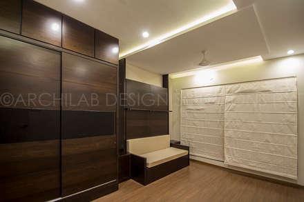 1500 Sft Residence at Rohan Kritika, Sinhagad Road, Pune : minimalistic Bedroom by Archilab Design Solutions Pvt.Ltd.