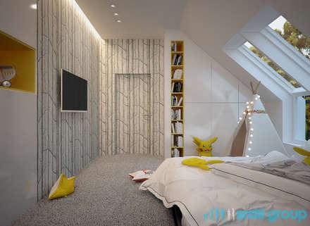 Projekt pokoju dziecięcego w domu jednorodzinnym w Orzeszu: styl , w kategorii Pokój dziecięcy zaprojektowany przez Archi group Adam Kuropatwa