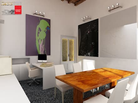 Ufficio privato 3: Studio in stile in stile Classico di MELLINACORTISTUDIO