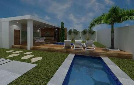 Fachadas e áreas externas: Piscinas modernas por Caio Padilha Arquitetura & Design
