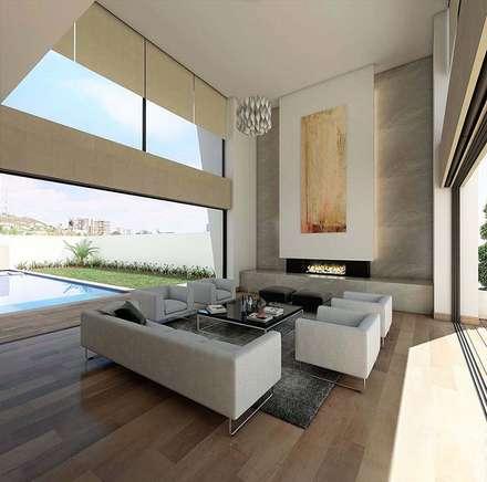 modern Living room by Víctor Díaz Arquitectos