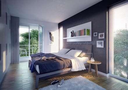 Schlafzimmer: Moderne Schlafzimmer Von Casaplaner Modulhaus Schweiz