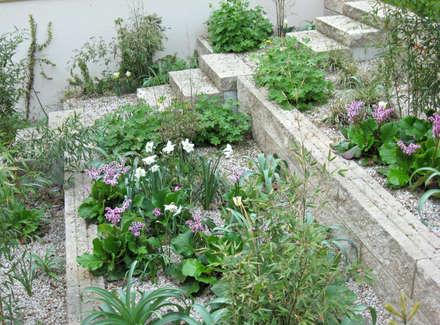 Geländeterrassen:  Treppe von guba + sgard Landschaftsarchitekten