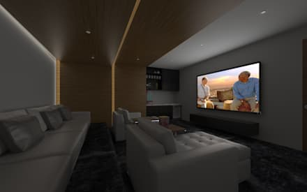 minimalistic Media room by SEZIONE