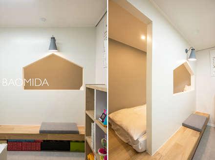 즐거운 우리의 집_서초현대아파트 인테리어: (주)바오미다의  아이방