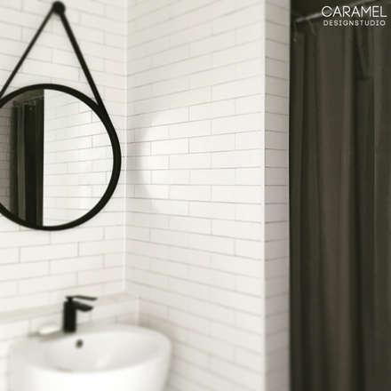 마이너스옵션_ 화이트 인테리어: 카라멜 디자인 스튜디오의  화장실