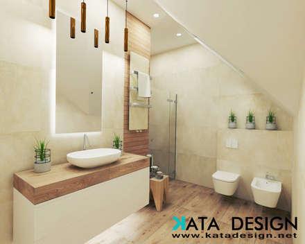 Dom pod Krakowem 140 m2: styl , w kategorii Łazienka zaprojektowany przez Kata Design