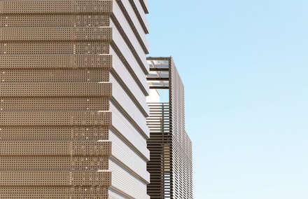 rivestimento corpo scale lato sud: Scale in stile  di Studio Perini Architetture