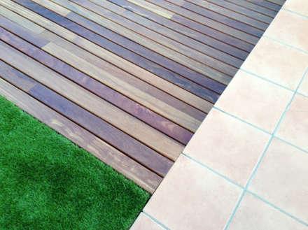 REFORMA JARDÍN LA GARRIGA: Jardines de estilo mediterráneo de inzinkdesign