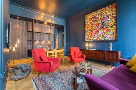 Le Blue Dream: Salon de style de style Colonial par Thomas Marquez Photographie