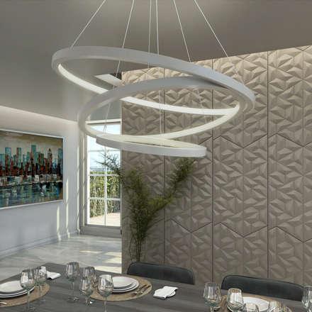 Lanzamiento de la nueva Linea de Lamparas: Comedores de estilo moderno por Gabriela Afonso