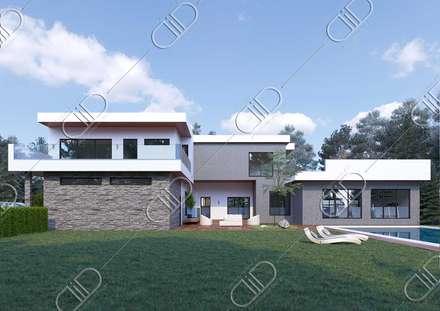 Barber: minimalistic Houses by Design Studio AiD