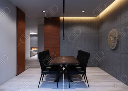 Plateau: minimalistic Dining room by Design Studio AiD