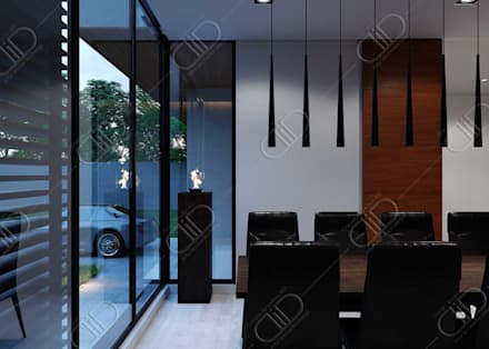 Plateau: minimalistic Dining room by Design Studio AiD