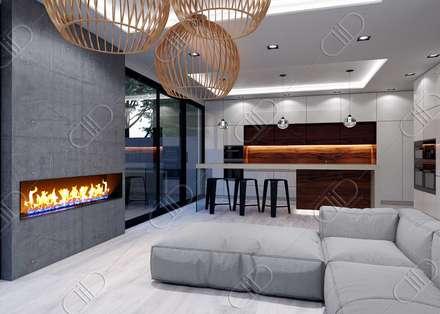 Plateau: minimalistic Living room by Design Studio AiD