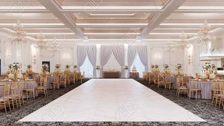 Royal Venetian Banquet Hall: classic Living room by Design Studio AiD