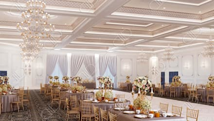 Royal Venetian Banquet Hall: classic Media room by Design Studio AiD