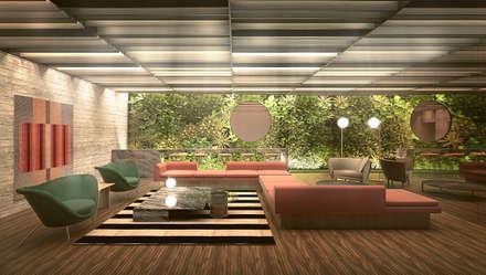 Segundo puesto concurso privado | Inmobiliaria Edifica : Bares y Clubs de estilo  por Gracia Nano Studio