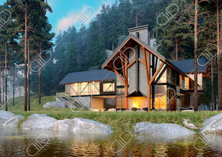 Architectural Design and Visualization: rustic Houses by Design Studio AiD