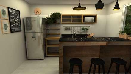 tropical Kitchen by COB Arquitetura e Design