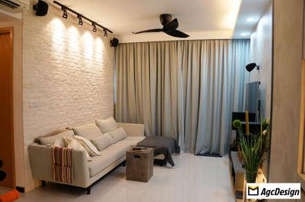Prive EC: scandinavian Living room by AgcDesign