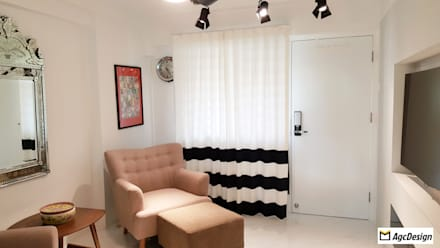 3-Room HDB @ Whampoa Drive: colonial Living room by AgcDesign