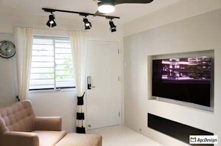 3-Room HDB: colonial Living room by AgcDesign
