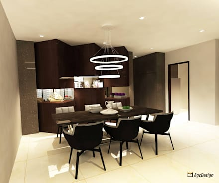 Sea Horizon Condo: modern Dining room by AgcDesign