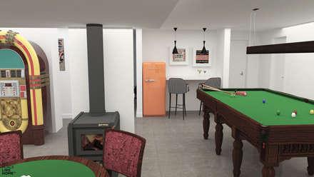 Games and multimedia room: Salas multimédia modernas por No Place Like Home ®