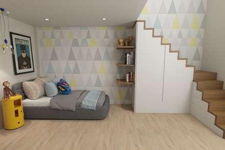Boy´s Room: Quartos modernos por No Place Like Home ®