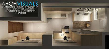 19sqm Condominium Unit: minimalistic Living room by Archvisuals Design Studio
