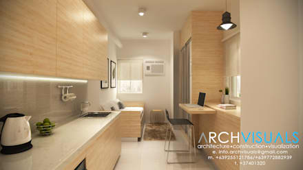 19sqm condominium unit minimalistic living room by archvisuals design studio - Home Interior Design In Philippines