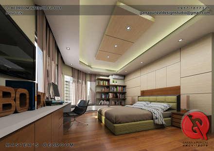 3-Bedroom Interior Design: asian Bedroom by Garra + Punzal Architects