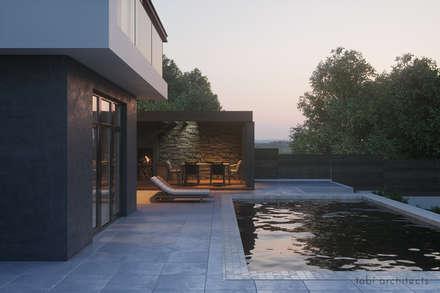 : minimalistischer Pool von Tobi Architects
