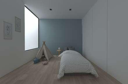 Vivienda AM: Dormitorios infantiles de estilo minimalista de atelier512