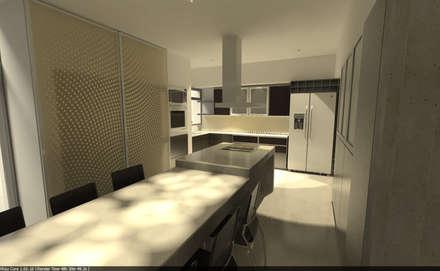 Living  Integrado a Cocina: Muebles de cocinas de estilo  por Aida Tropeano & Asoc.