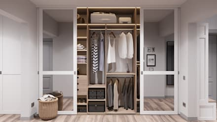 scandinavian Dressing room by Anastasya Avvakumova