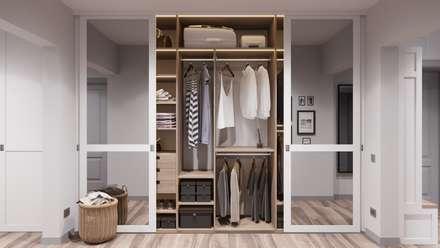 Closets de estilo escandinavo por Anastasya Avvakumova