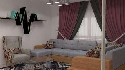 غرفة معيشة:  غرفة المعيشة تنفيذ Batool