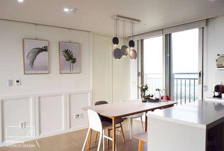 moderne Esszimmer von 리인홈인테리어디자인스튜디오