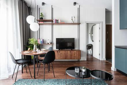 Gdańsk. ul. Jaglana: styl , w kategorii Salon zaprojektowany przez Raca Architekci