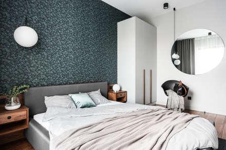 Gdańsk. ul. Jaglana: styl , w kategorii Sypialnia zaprojektowany przez Raca Architekci